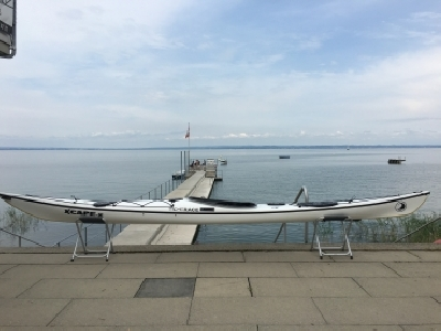 Neues Tiderace Seekajak XcapeS inkl. Keflar Keel Schutz