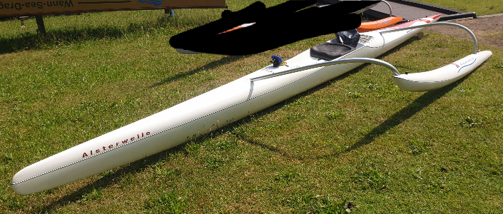 Outrigger Canoe OC1 Allwave Helium Corsa Vollcarbon